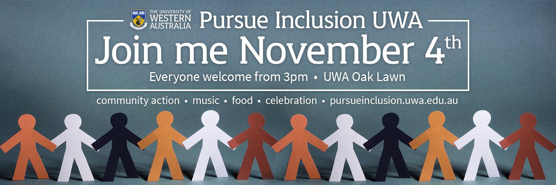 Pursue inclusion UWA social media cover image