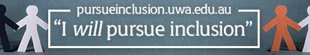 Pursue inclusion UWA global email signature